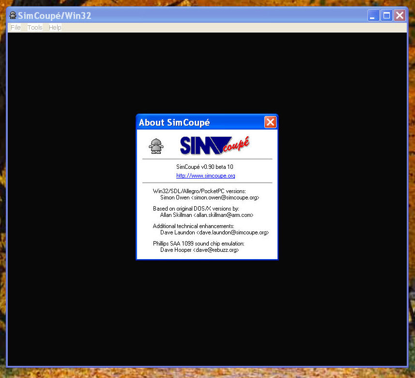 SIM Coupè in acton on Windows XP Pro with SP2